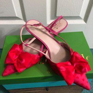 Kate Spade sling back kitten heel shoe